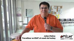 Julien Molina, travailleur en ESAT et joueur de hockey sur gazon