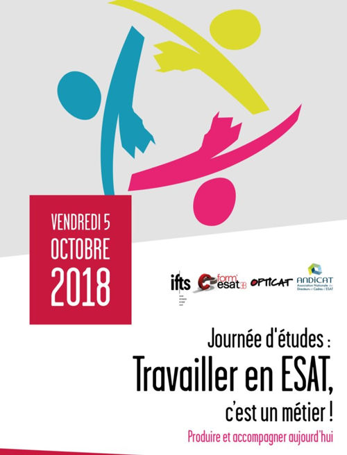 """Journée d'étude """"travailler en ESAT, c'est un métier"""" à l'IFTS Grenoble!"""