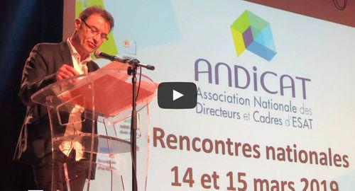 """Didier Rambeaux """"Les ESAT, pièces maitresses de l'emploi"""""""