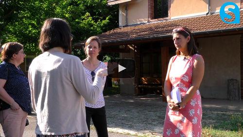 Avec Sandrine Chaix à L'Arche de la Vallée (26)