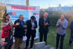 Première pierre pour le Restaurant / Salles de séminaires Carré Rouge à Villefontaine